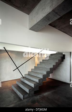 Treppe in - Melbourne Australien. Architekt: Fender Katsalidis, 1991 - Stockfoto