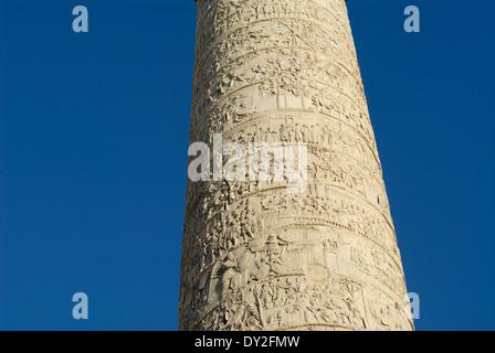 Detail der Trajans Säule Rom Italien hautnah - Stockfoto