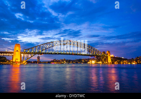 Sydney Harbour Bridge Abend, Australien - Stockfoto