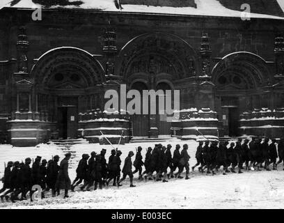 Deutsche Soldaten in Vouziers, 1917 - Stockfoto