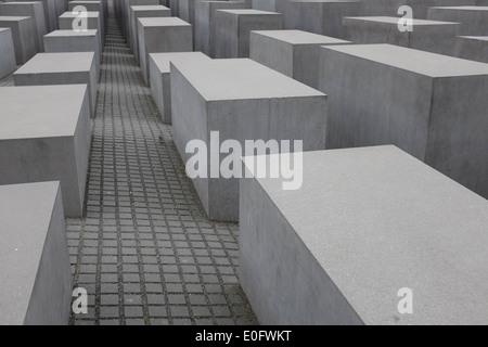 Nationale Gedenkstätte für die ermordeten Juden Europas (Holocaust-Mahnmal) Berlin Deutschland - Stockfoto