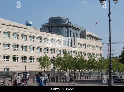 Vereinigten Staaten uns von Amerika Botschaftsgebäude in Berlin, Deutschland - Stockfoto