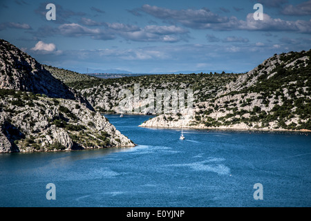 Mündung des Flusses Krka, Kroatien Adria - Stockfoto