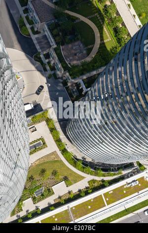 Absolute Türme, Mississauga, Kanada. Architekt: Müller Architekten, 2012. Der Blick von der 56. Etage des Turmes - Stockfoto