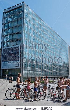 Frankreich, Paris, Institut du Monde Arabe (Institut du Monde Arabe) vom Architekten Jean Nouvel und Architekturbüro - Stockfoto