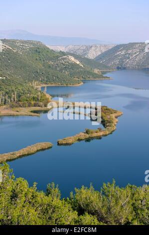 Kroatien, Dalmatien, dalmatinische Küste, in der Nähe von Sibenik, Krka Nationalpark Krka Fluss - Stockfoto