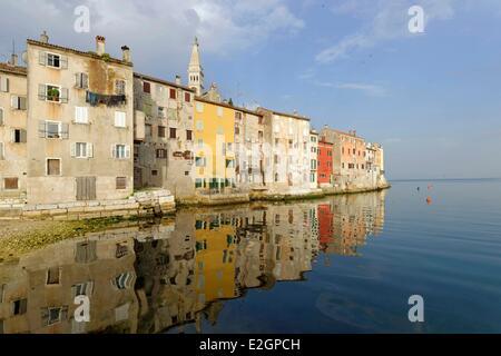 Rovinj Kroatien Istrien Adria Küste - Stockfoto