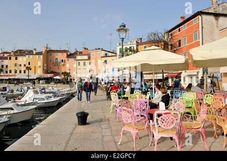 Kroatien Istrien Adria Küste Rovinj port - Stockfoto