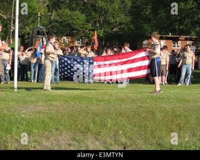 Die Abschlusszeremonie Flagge - Stockfoto