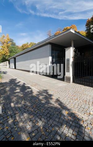 Lapidarium auf dem jüdischen Friedhof Pankow, Berlin, Deutschland - Stockfoto