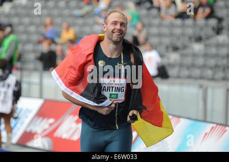 Berlin, Deutschland. 31. August 2014. ISTAF-2014, Leichtathletik-Veranstaltungen, Olympiastadion, Lokalmatador Robert - Stockfoto