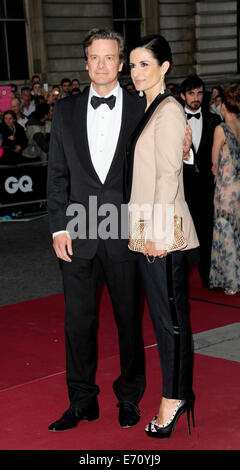 London, UK. 2. Sep, 2014. & Livia Colin Firth besuchen die GQ Men of the Year Award in The Royal Opera House Covent - Stockfoto