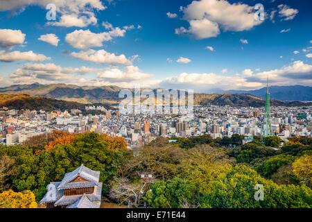 Matsuyama, Japan Innenstadt Stadtbild. - Stockfoto