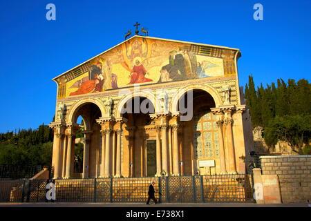 Basilika von Qual, Garten Gethsemane, Jerusalem, Israel, Naher Osten - Stockfoto