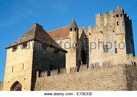 Schloss Beynac-et-Cazenac, Departement Dordogne, Aquitaine, Frankreich - Stockfoto