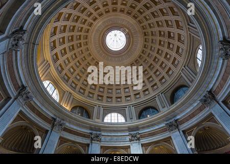 Sala Rotonda (Runde Halle), geformt wie eine Miniatur Pantheon, Vatikan, Vatikanstadt - Stockfoto
