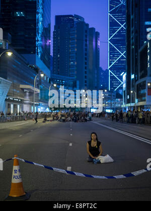 Hong Kong. 13. Oktober 2014.   Hong Kong-Proteste: Studenten, pro-Demokratie-Aktivisten und anderen Unterstützern - Stockfoto