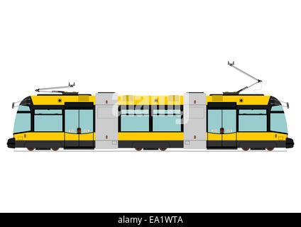 Moderne Straßenbahn - Stockfoto