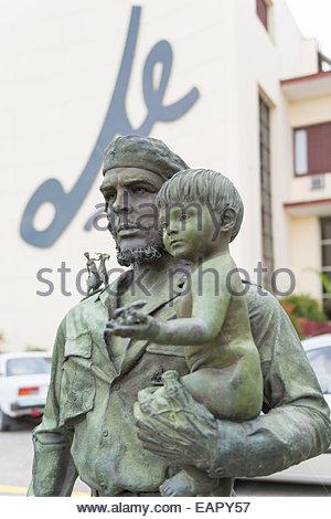 Relevanten Statue, Denkmal, Denkmal von Ernesto Che Guevara De La Serna in Santa Clara, Kuba - Stockfoto