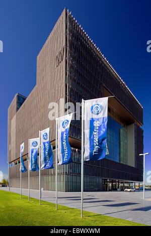 Hauptsitz Deutschland, Nordrhein-Westfalen, Ruhrgebiet, Q1 der ThyssenKrupp AG, Essen - Stockfoto