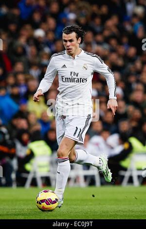 Madrid, Spanien. 6. Dezember 2014. Gareth Bale (Real) Fußball: Gareth Bale von Real Madrid in der spanischen Primera - Stockfoto