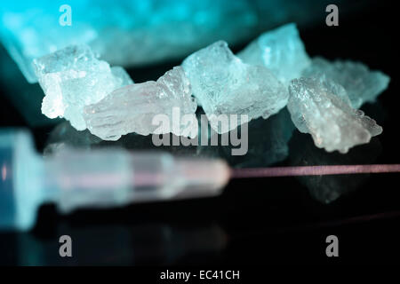 Crystal Meth, symbolisches Bild - Stockfoto