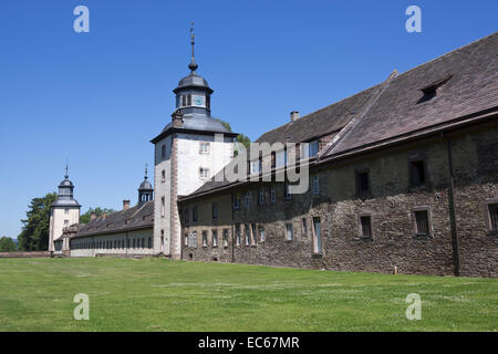 Abtei Corvey, Höxter, Weserbergland, Nordrhein-Westfalen, Deutschland, Europa - Stockfoto