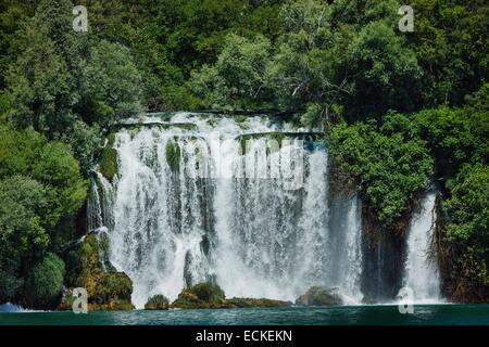 Kroatien, Dalmatien, Nationalpark Krka Wasserfälle - Stockfoto