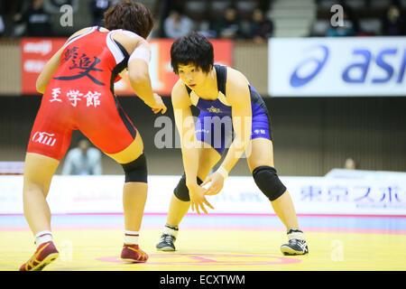 Nd Yoyogi Gymnasium, Tokio, Japan. 21. Dezember 2014. KIWA Sakae, 21. Dezember 2014 - Ringen: Alle Japan Wrestling - Stockfoto
