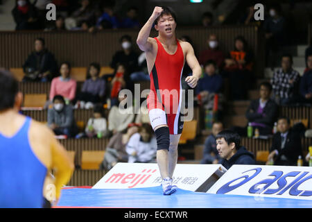 Nd Yoyogi Gymnasium, Tokio, Japan. 21. Dezember 2014. Masakazu Kamoi, 21. Dezember 2014 - Ringen: Alle Japan Wrestling - Stockfoto