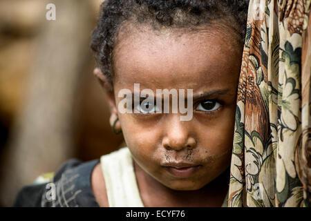 Kleines Mädchen, Äthiopien - Stockfoto