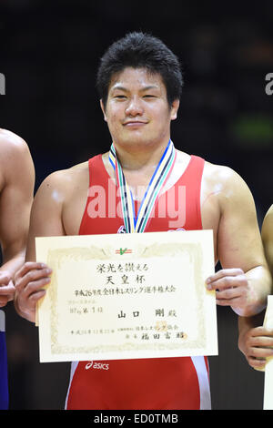 Nd Yoyogi Gymnasium, Tokio, Japan. 22. Dezember 2014. Takeshi Yamaguchi, 22. Dezember 2014 - Ringen: Alle Japan - Stockfoto