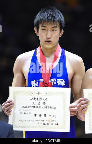 Nd Yoyogi Gymnasium, Tokio, Japan. 22. Dezember 2014. Shinichi Nakai, 22. Dezember 2014 - Ringen: Alle Japan Wrestling - Stockfoto