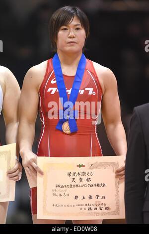 Nd Yoyogi Gymnasium, Tokio, Japan. 22. Dezember 2014. Yoshiko Inoue, 22. Dezember 2014 - Ringen: Alle Japan Wrestling - Stockfoto