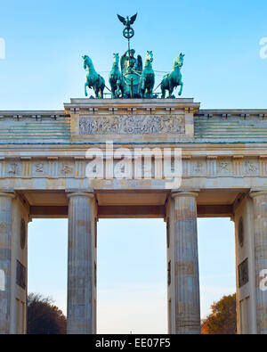 Brandenburger Tor bei Sonnenuntergang in Berlin, Deutschland - Stockfoto