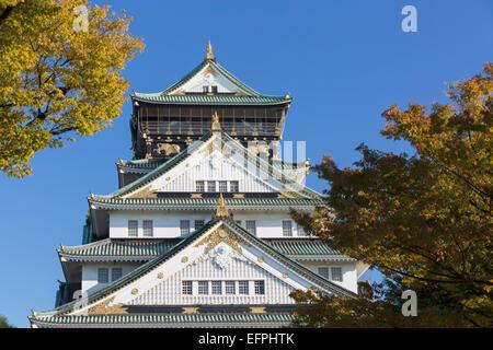 Burg von Osaka, Osaka, Kansai, Japan, Asien - Stockfoto