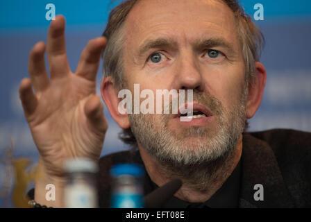 Berlin, Deutschland. 9. Februar 2015. Niederländischer Regisseur und Fotograf Anton Corbijn besucht die Pressekonferenz - Stockfoto