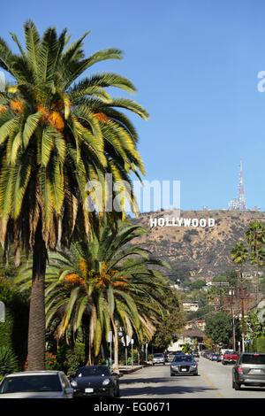 Hollywood-Schild, Hollywood Hills, Los Angeles, Kalifornien, USA - Stockfoto