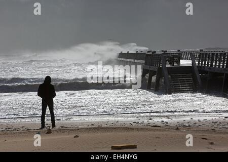 Frankreich, Vendee, Saint Jean de Monts, Sturm - Stockfoto
