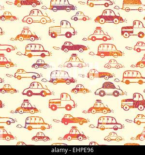 Lebendige Autos Musterdesign Hintergrund - Stockfoto