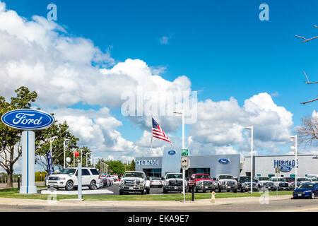 Einem Ford-Händler in Modesto, Kalifornien - Stockfoto