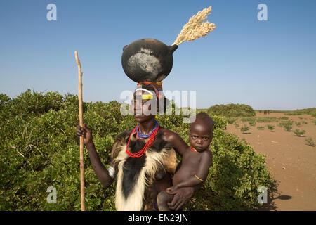 Dasanesh Stamm in Äthiopien - Stockfoto
