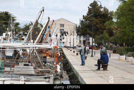 Hafen von Novigrad, Istrien, Kroatien, Europa - Stockfoto