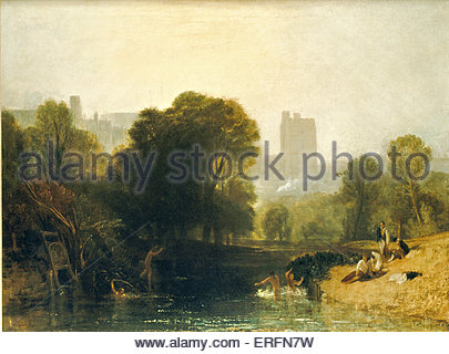 """Windsor Castle"" - Gemälde von Joseph Mallord William Turner. JMWT, englische Maler: 1775-1851. - Stockfoto"