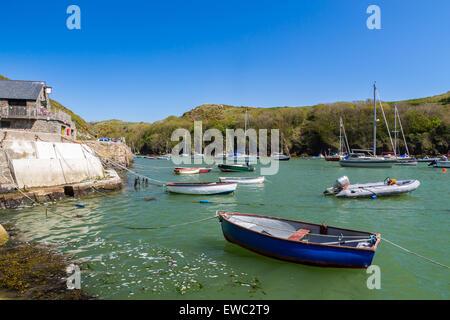 Solva in St Brides Bay in Pembrokeshire Coast National Park Wales Großbritannien Europa - Stockfoto