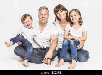 Zwei-Generationen-Familie - Stockfoto