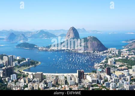 Zuckerhut und Rio de Janeiro Stadtbild, Brasilien. - Stockfoto