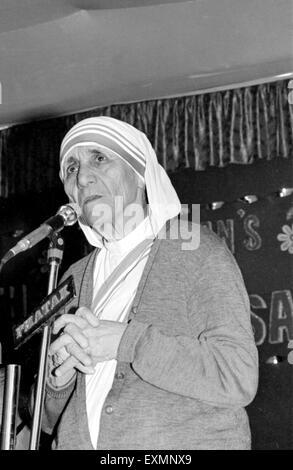 Die selige Mutter Teresa von Kalkutta geboren Agnes Gonxha Bojaxhiu allgemein bekannt als Mutter Teresa von Kalkutta - Stockfoto