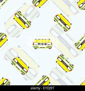 Vektor nahtlose Hintergrund mit Kinder-Spielzeug-Autos - Stockfoto