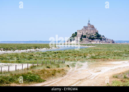Mont-Saint Michel, mittelalterliche Abtei in Brittany France - Stockfoto